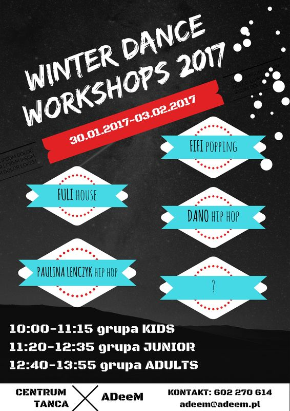 ADeeM winter dance workshops 2017